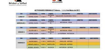 ACTIVIDADES SEMANA (27 Febrero – 5 Marzo)