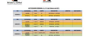 ACTIVIDADES FIN DE SEMANA 4 Y 5 DE FEBRERO.