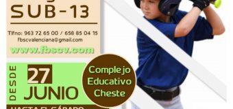 Campus de Tecnificación de Béisbol 2021 – 1º Turno